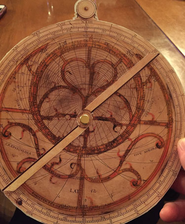 AMA conference 2018 - Sample assembled Astrolabe.