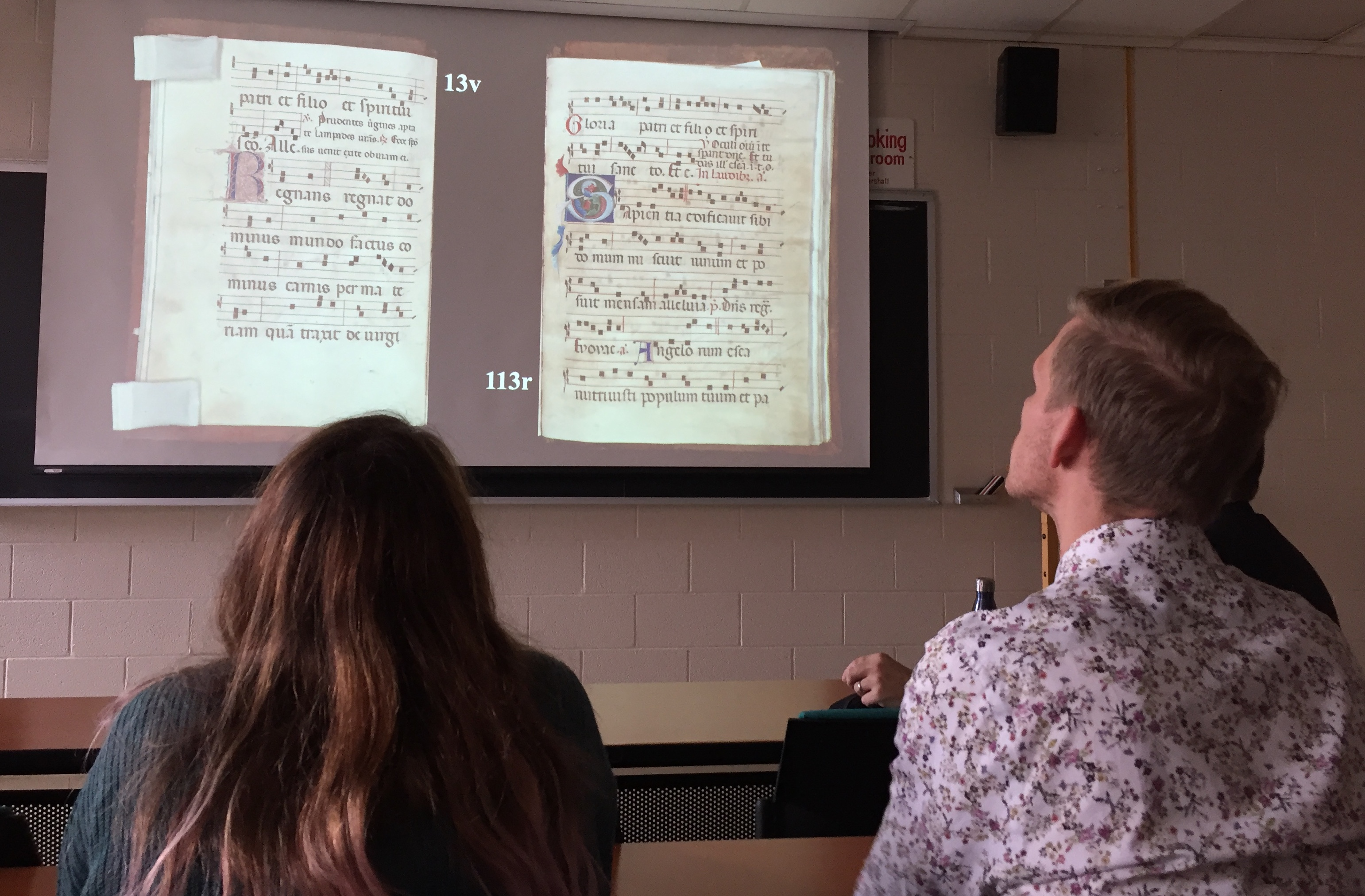 AMA conference 2019 - Our members study McGill, Medieval Manuscript 73.